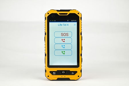 Life Tel 4 - outdoor smartphone for lone workers including dead man's switch and emergency call app