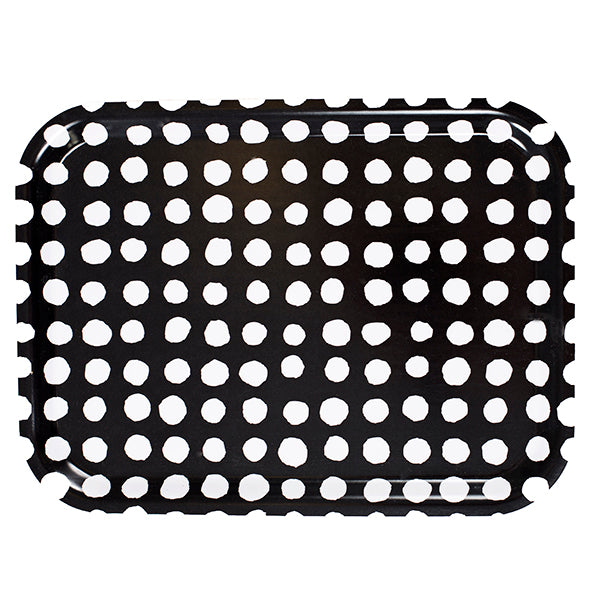 Dots tray, black