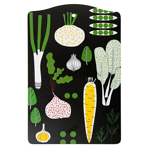 eat your greens, cutting board black