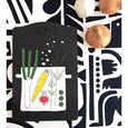 eat your greens - soup, cutting board black