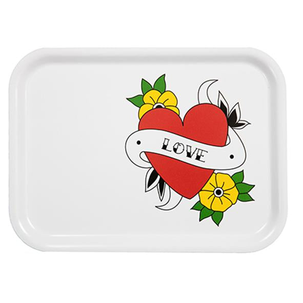love tattoo, tray