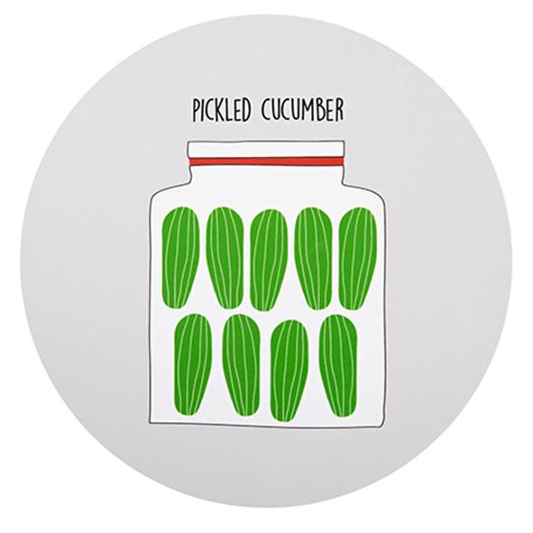 pickled cucumber, potholder grey