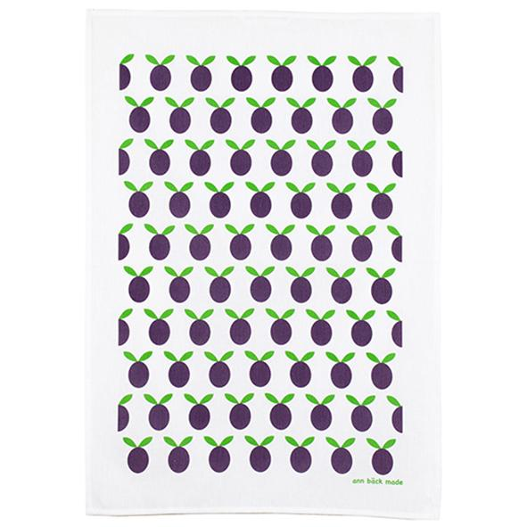 plum kitchen towel, purple