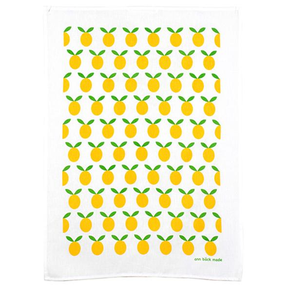 plum kitchen towel, yellow