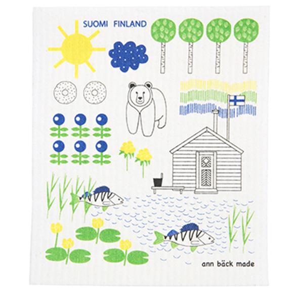 SUOMI FINLAND dishcloth