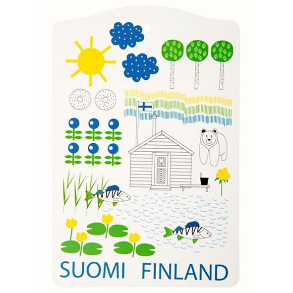 SUOMI FINLAND cutting board