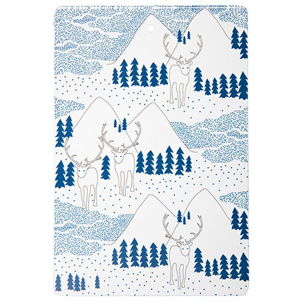 winter wonderland - cutting board 20 x 30cm