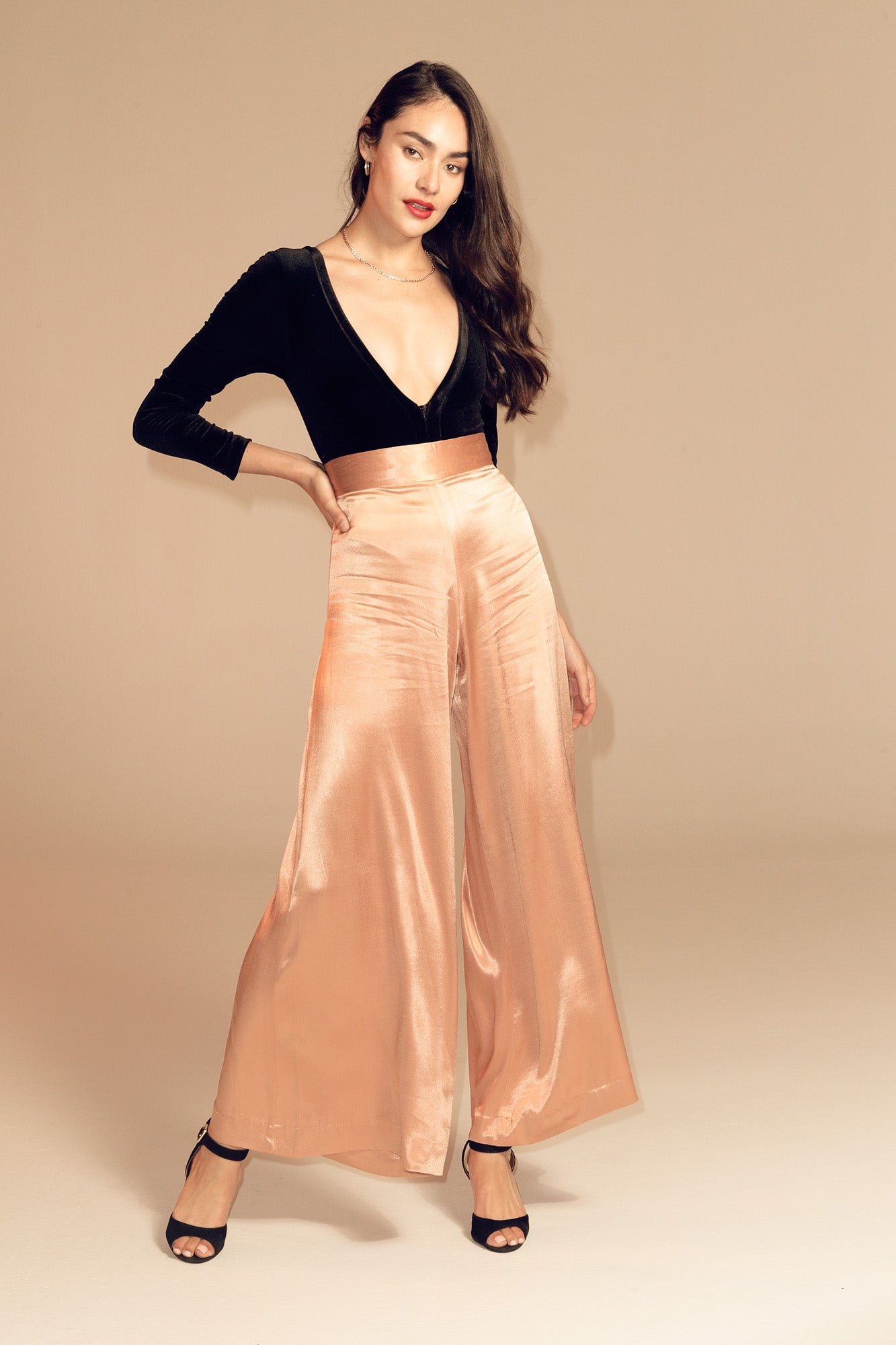 Champagne High Waisted Pant