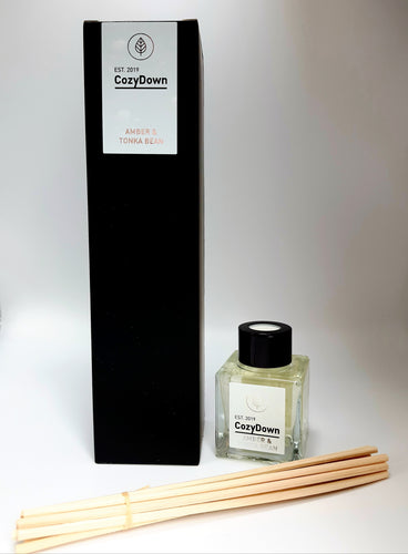 Amber and Tonka Bean Natural Rattan Reed Diffuser