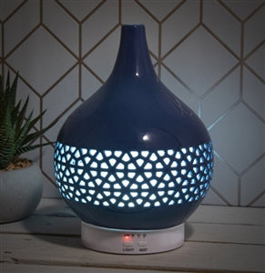 Colour Changing Ceramic Aromatherapy Humidifier Diffuser - Blue 20cm