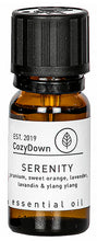 Load image into Gallery viewer, CozyDown Pure Essential Oil Blend geranium sweet oranfe ylang ylang lavandin lavender 10 ml suitable for oil burmers and diffusers plant based vegan ethical responsible sourced ingredients