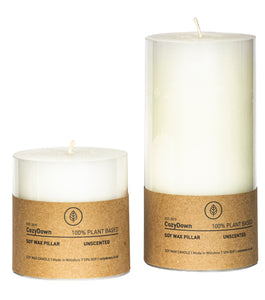 Unscented Pillar Candle 7.5cm