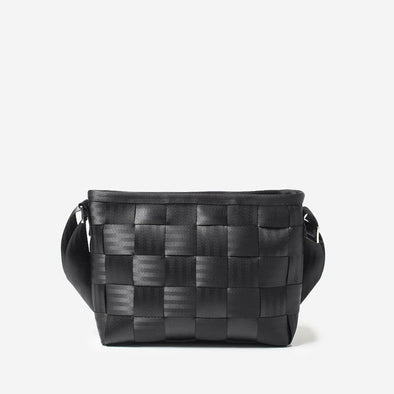 Messenger Black Seatbelt Crossbody Bag