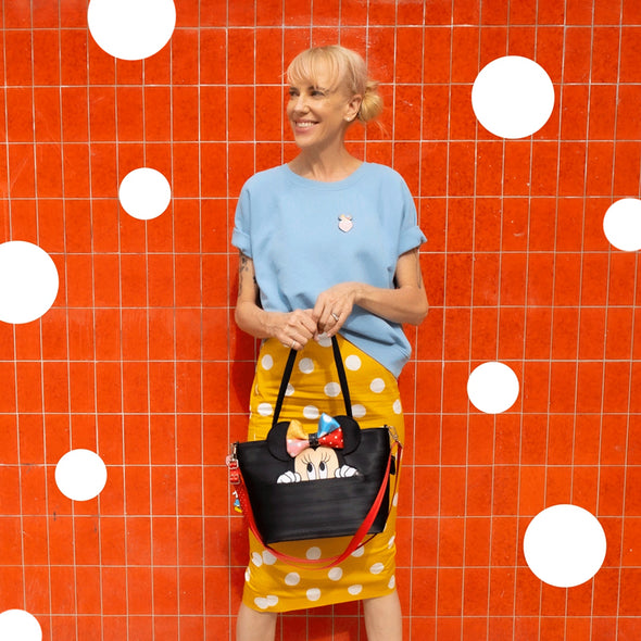 Mini Streamline Tote Lots of Dots Lifestyle