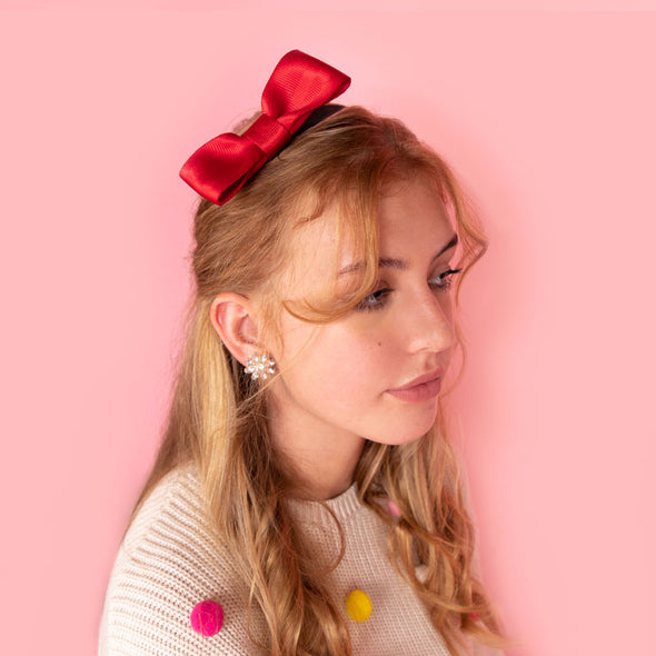 Bow Headband / Scarlet
