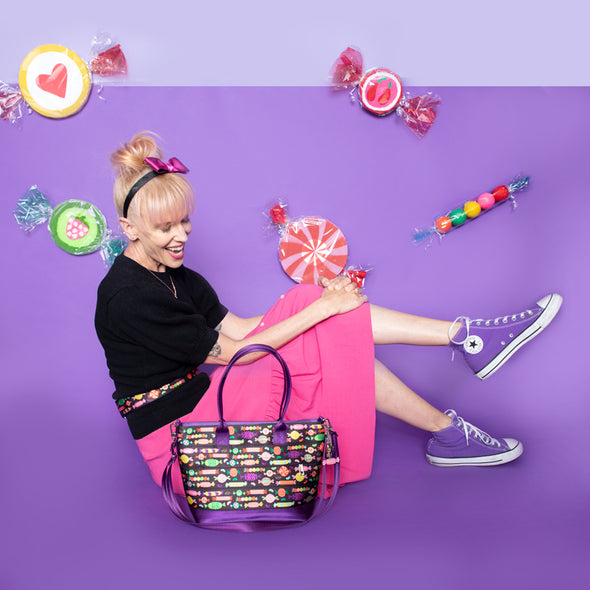 Mini Streamline Tote Candy Lifestyle