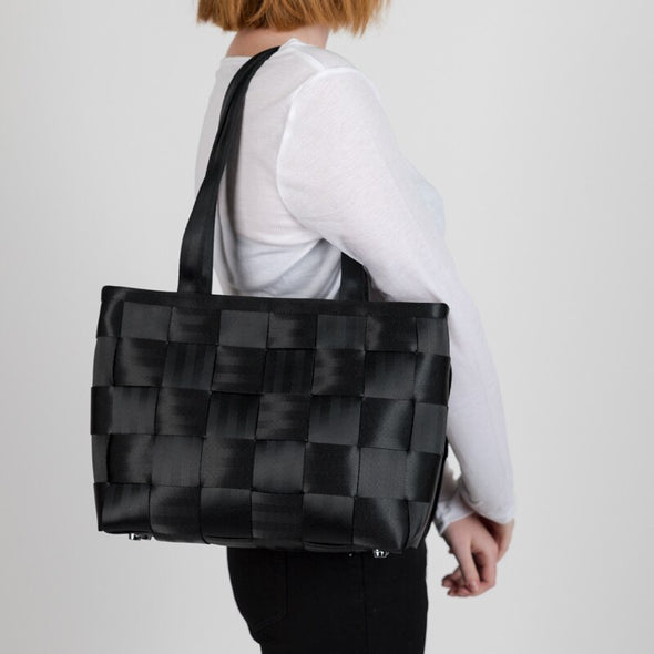 Large Tote Black Seatbelt Lifestyle