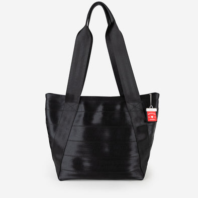 Medium Boat Tote Black Front