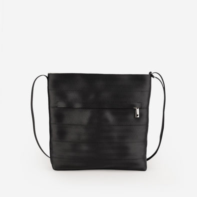 Streamline Crossbody Black Seatbelt bag Harveys