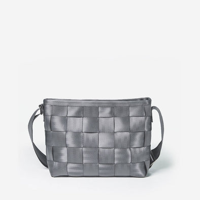 Messenger Storm Gray Crossbody Seatbelt bag
