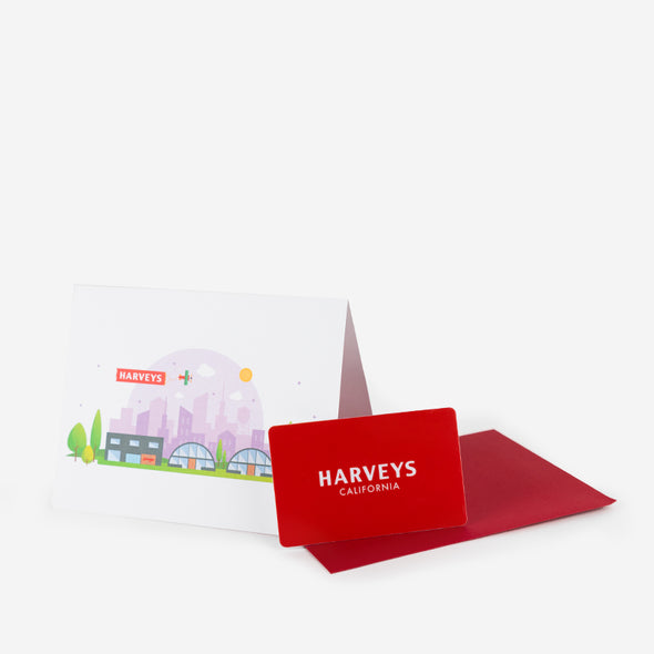 Harveys Logo / Physical Gift Card (Card will be mailed)