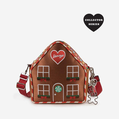Convertible Crossbody Gingerbread House Front