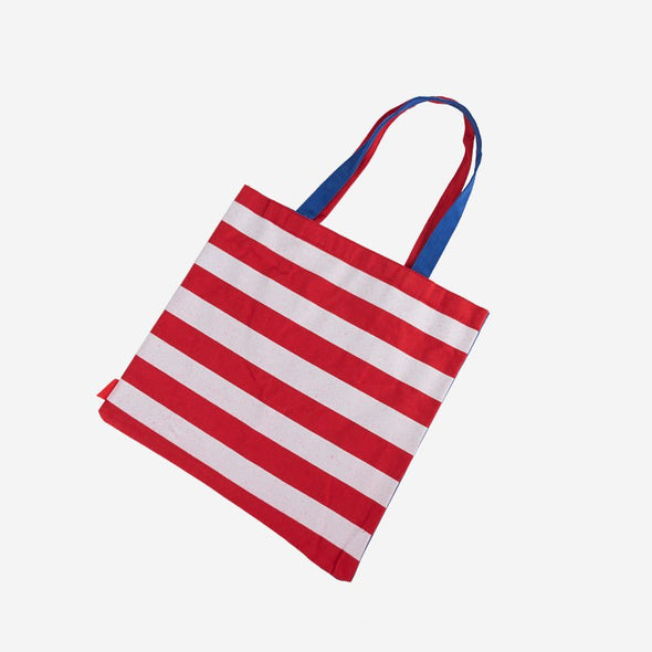 Canvas Tote Heart Flag Back