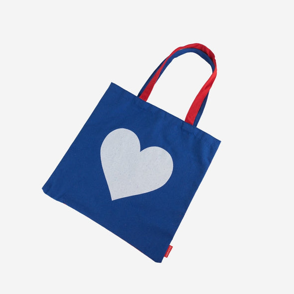 Canvas Tote Heart Flag