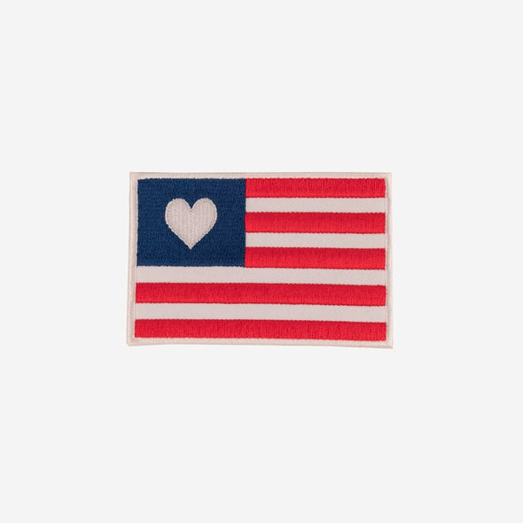 Flag Heart Patch
