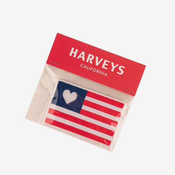 Flag Heart Patch Packaging