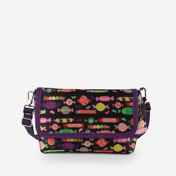 Foldover crossbody candy front