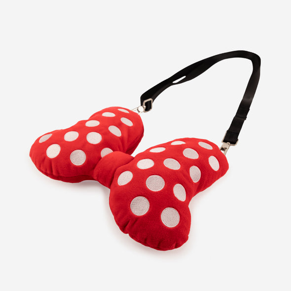 Bow Plush Crossbody Minnie Mouse angle