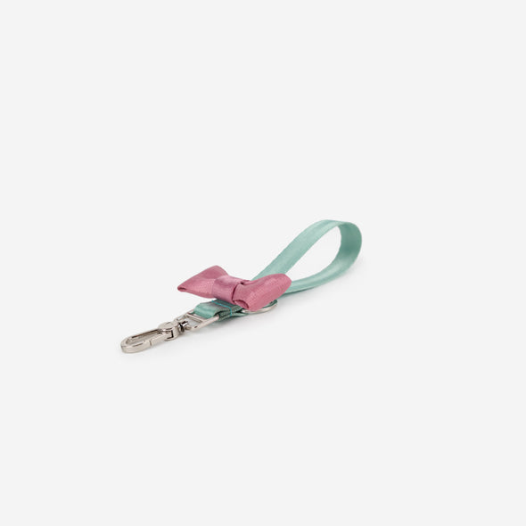 Bow Keychain Love You So Matcha Front