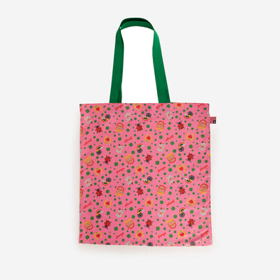 shopper tote lucky hearts