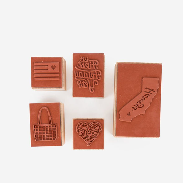 Made With Love Stamp Set Harveys Rubber Stamp Back