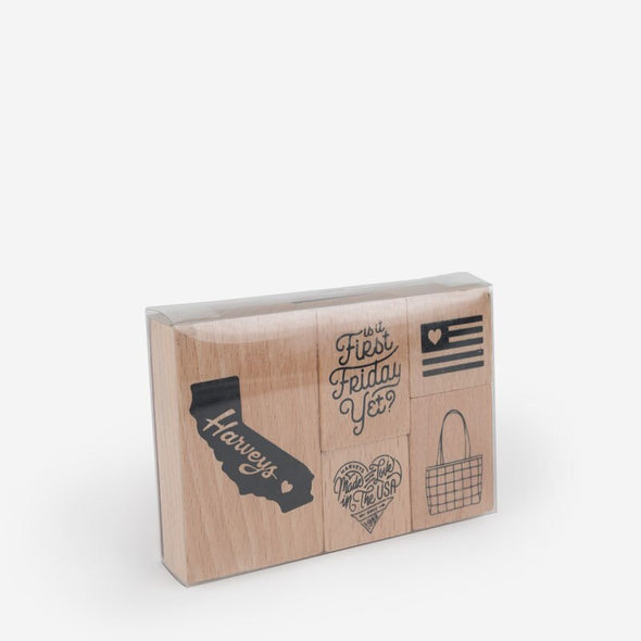 Harveys Rubber Stamp Set Packaging