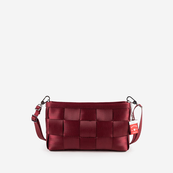 Convertible Clutch Maroon Front