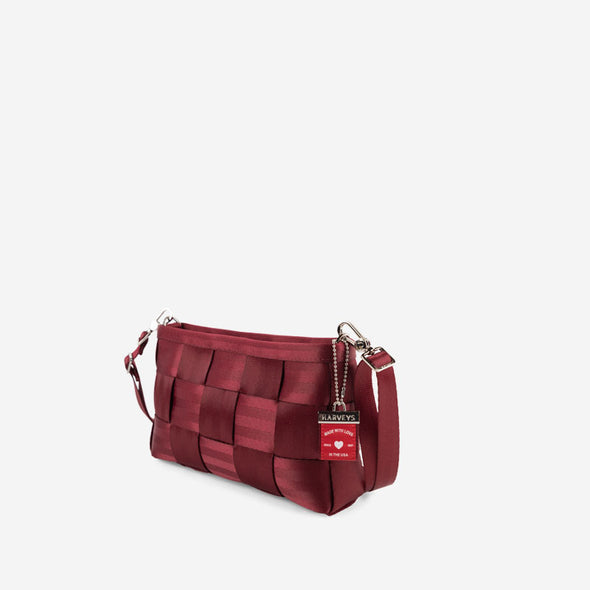 Convertible Clutch Maroon Side