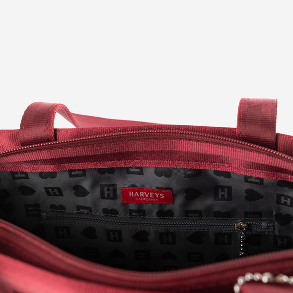 Large Tote Maroon Inside