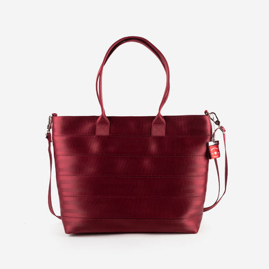 Medium Streamline Tote Maroon Front