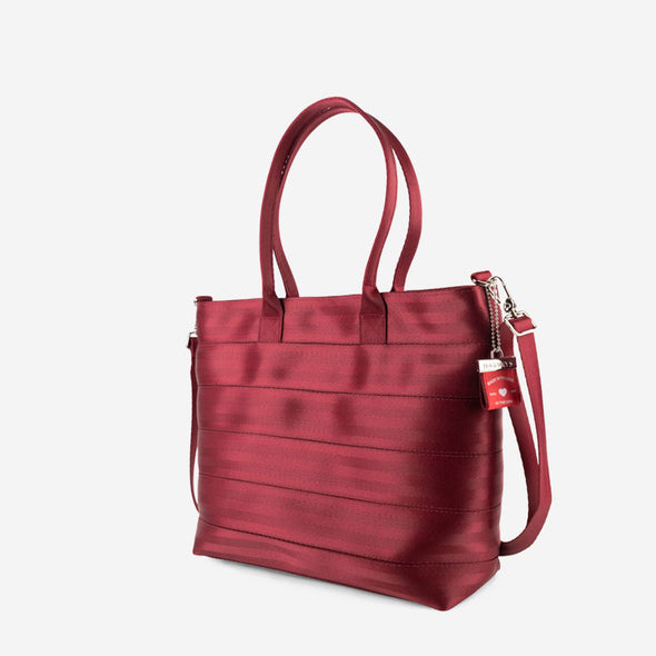 Medium Streamline Tote Maroon Side