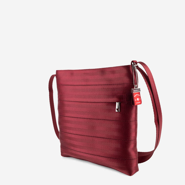 Streamline Crossbody Maroon Side