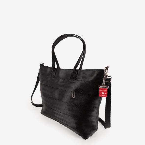 Medium Streamline tote black angle