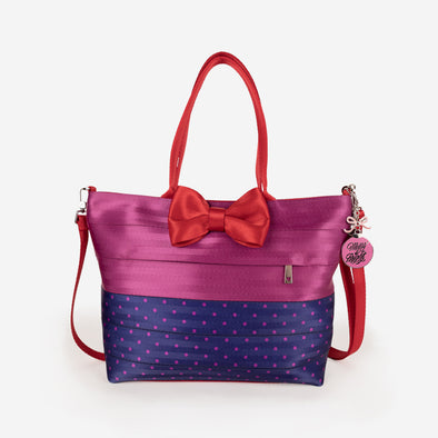 Bow Medium Streamline Tote / Merry and Bright Front