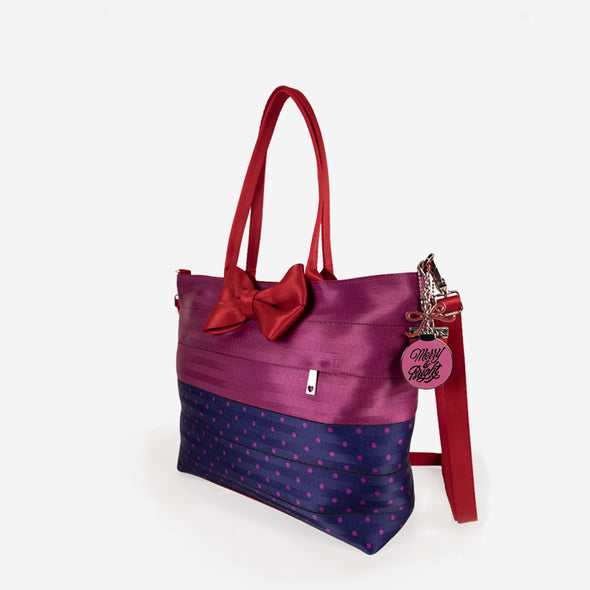 Bow Medium Streamline Tote / Merry and Bright Side