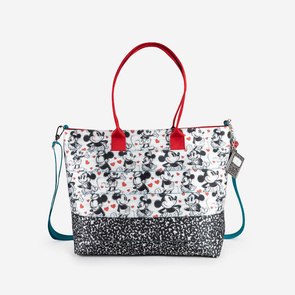 Medium Streamline Tote Disney Mickey heart Minnie Front
