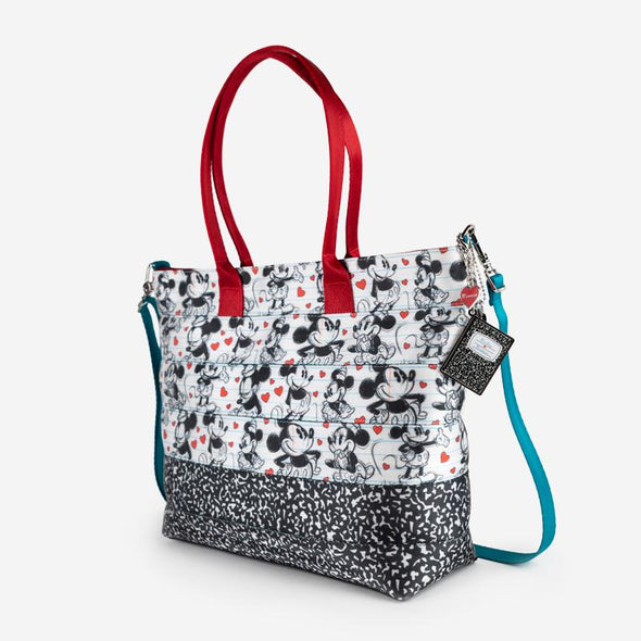 Medium Streamline Tote Disney Mickey heart Minnie Side
