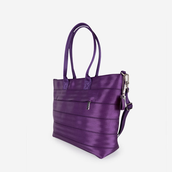 Medium Streamline Tote Mulberry Side