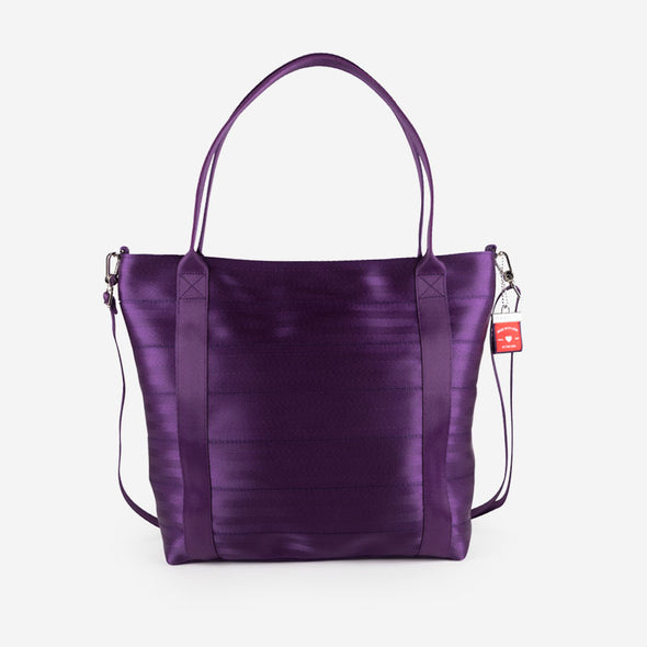 Poster Tote Mulberry Front