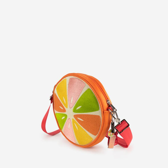 Convertible Crossbody Orange Slice Side